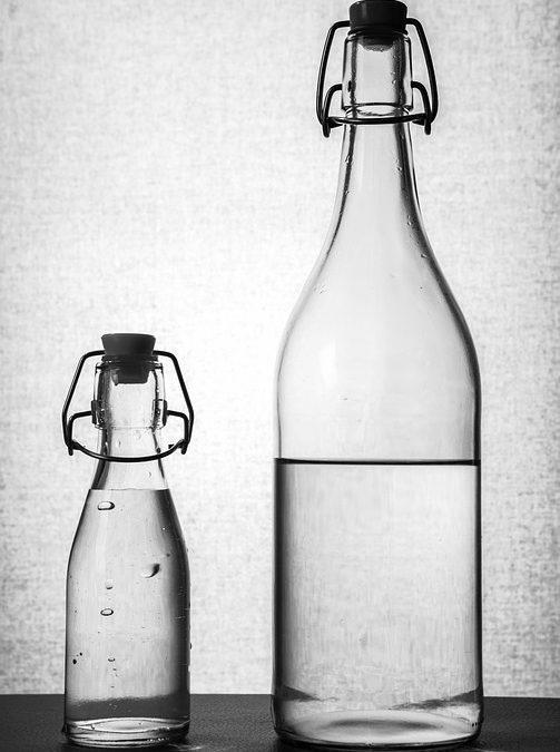 Bouteilles et bocaux en verre pour la conservation alimentaire